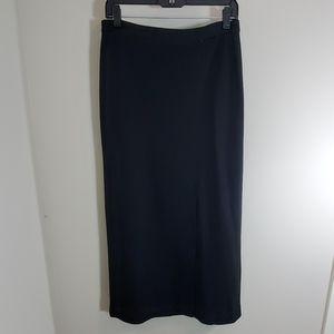 Ann taylor skirt black long wool blend career 6